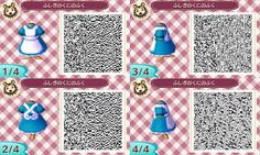 Belle outfit QR code for AC:NL | Link has more princess QR codes (Snow White, Sleeping Beauty, Ariel the little mermaid, etc).