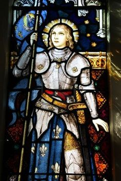 St. Joan of Arc. stained glass in st mary of the angels wellington new zealand roman catholic church