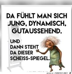 Eine von 11217 Dateien i… funny picture & # shit mirror.jpg & # from Reikru. One of 11217 files in the category & # class sayings and jokes & # on FUNPOT. Funny Quotes, Funny Memes, Jokes, Tabu, Just Kidding, Man Humor, Make Me Smile, Quotations, Have Fun