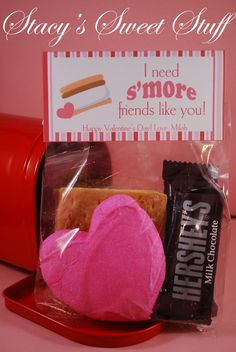 DIY Printable Valentine Bag Topper by StacysSweetStuff on Etsy...need a white heart, no red dye allowed in this house