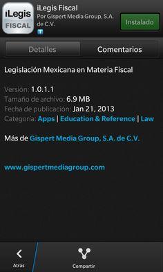AppsUser: iLegis Fiscal es la Aplicación de BlackBerry que ayuda a entender las leyes en materia fiscal