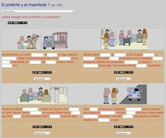 A list of 13 online exercises where students can practice the preterite vs imperfect in Spanish.