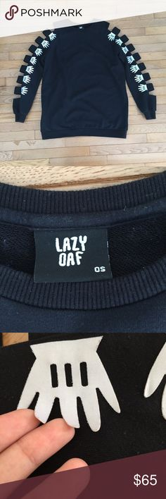 Lazy oaf armless Sold out sweater from lazy oaf tips of some hands beginning to peel Lazy Oaf Sweaters