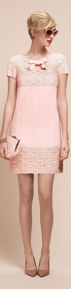 Paule Ka coral dress.  women fashion outfit clothing stylish apparel @roressclothes closet ideas