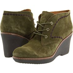 Olive Wedge Boots