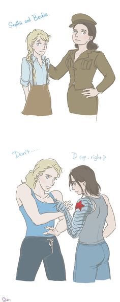 Captain America and Winter Soldier: Girls by SilasSamle on DeviantArt