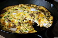 Cheesy Potato Frittata :O  So many variations you could make -- the sky is the limit -- just keep the potatoes; cheese & eggs as your base and IMAGINE ON!!!