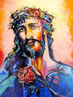Jesus Modern Art, Design, Painting, Art, Anime, Portrait
