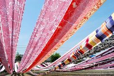 Japanese natural dyed textiles
