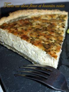 Tarte au chou fleur et boursin noix - Dans vos assiettes