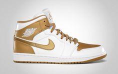 1b293029c01b My dream shoes White Gold Retro AJ 1 New Jordans Shoes