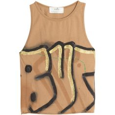 Faith Connexion Graffiti Print Cotton Tank