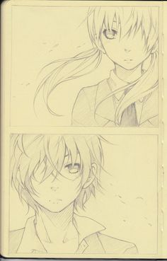 "Manga Drawing Ideas Pencil: Shizuku x Haru, by aokamei on deviantART. >> The two main characters from the series ""My Little Monster. Mangaka Anime, Anime W, I Love Anime, Shizuku And Haru, Shizuku Mizutani, Manga Drawing, Drawing Sketches, Art Drawings, Drawing Ideas"