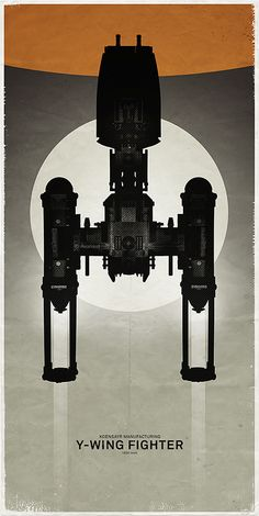 https://flic.kr/p/qxDCPf   Y-Wing Fighter   I'm not hiding it, this is a fighter design I adore. It works in any medium, from Lego to various scale models and even graphic silhouettes like the one in this poster.   A little over a year ago I made some Star Wars spaceship posters (album here), some with Lego, some with scale models. I added two more Lego posters to the series.  I will have to see if we have more of these models as I think they make swell subjects for things like this.