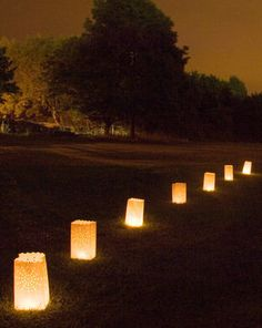 Make the most of outdoor space in the evening with firebags or outdoor candles