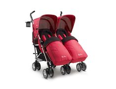 Pop Duo in Rouge Red is ideal stroller for those with two to take care of; ideal for both babies and toddlers.