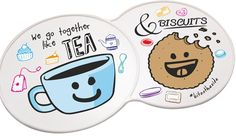 Bit On The Side Coaster. Choose a coloured coaster or we can print in full colour. A tea-riffic way to showcase your logo! Place for their brew & a biscuit too!