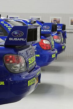 Subaru Impreza WRC Rally car rear wings...don't know what it is with them but i'm in love <3