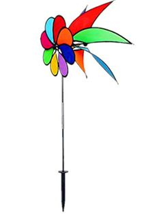 Wings®Rainbow 8-Petal with Wind Sail Directional Pinwheel Garden Spinner Wings