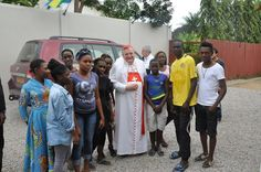 His Eminence, Cardinal Raymond L. Burke, at Gabon, Africa, for the blessing of the façade of Our Lady of Lourdes Parish (an apostolate parish of the Institute of Christ the King Sovereign Priest), that took place on the Feast of Our Lady's Assumption this past Saturday, August 15, 2015.
