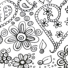 Heart and flower doodles