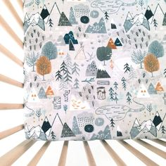 Crib Sheet Max's Map. Fitted Crib Sheet. Baby Bedding. by Iviebaby