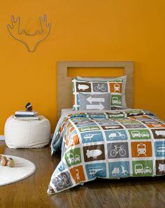 modern boy room, love the colors