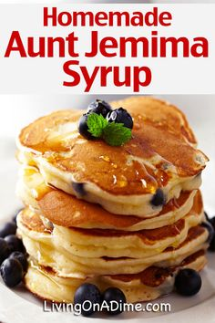 10 Simple Homemade Syrup Recipes - Easy Pancake SyrupWith a few substitutions for allergies and homemade syrup for pancakes and crepes.