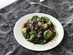 Beetroot, Broccoli & Silverbeet Salad + Creamy Tahini Ginger Dressing