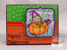 New All in One Stamps from #Stampendous. Colored with #Chameleonpens