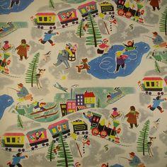 """Joyous Christmas Town"" vintage Christmas Wrap from the Precious! Vintage Christmas Wrapping Paper, Vintage Christmas Images, Antique Christmas, Christmas Gift Wrapping, Christmas Paper, Vintage Holiday, Christmas Crafts, Christmas Pictures, Vintage Images"