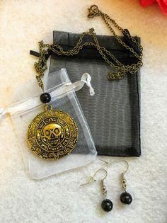 Un favorito personal de mi tienda Etsy https://www.etsy.com/es/listing/474261737/1-set-piratas-del-caribe-azteca-oro