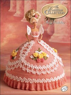 Crochet - Doll Patterns - Bed Doll Patterns - The Cotillion Collection Miss October 1992