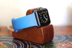 Apple Watch Stand  The RIPPLE in Mahogany  Hides by SchuttenWorks