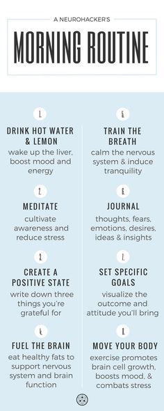 Set your day up for a win by creating a self-care morning routine. #neurohacker