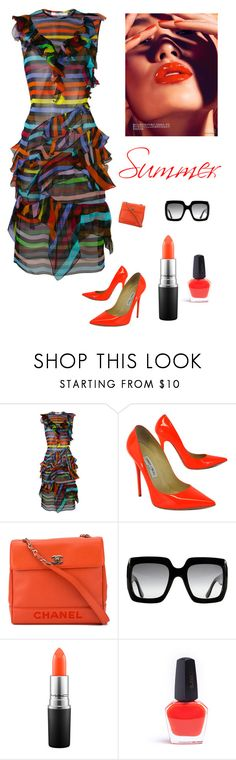 """""""Summer"""" by kotnourka ❤ liked on Polyvore featuring Givenchy, Jimmy Choo, Chanel, Gucci and MAC Cosmetics"""