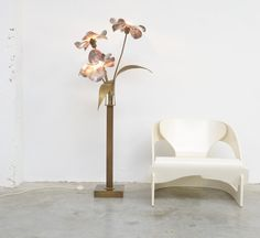 Brass Floor Lamp by Willy Daro