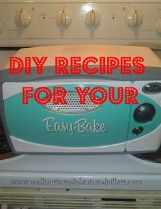 DIY Easy Bake Oven Recipes I really want one again! Easy Bake Oven Refills, Easy Bake Oven Mixes, Easy Bake Ultimate Oven, Easy Oven Recipes, Cooking Recipes, No Bake Desserts, Dessert Recipes, Oven Diy, Baking With Kids