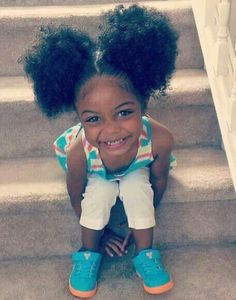 Cutie with Afro Puffs