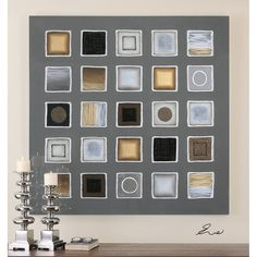 Uttermost Raised Borders Modern Art 34415