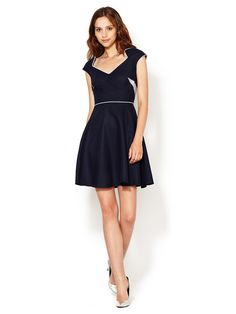 Lorelie Textured Silk Flare Dress by CrOp by David Peck - gorgeous eco clothing
