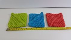 Trio of Dish Scrubbies Assorted Colors by SerendipityRipples