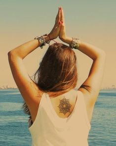 tattoo, ocean, hair