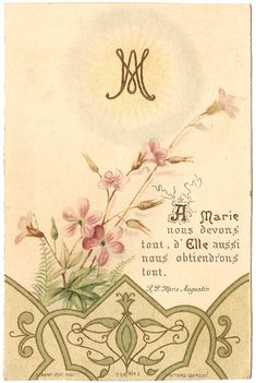 Mary Has Everything We Need with M Monogram by 12StarsVintage