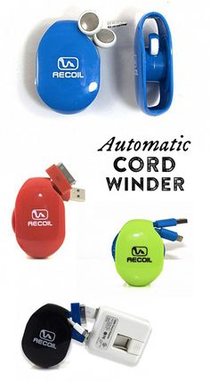 If tangled cords are a constant problem for you, Recoil Cord Winders are the solution.