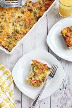 Never Fail Sausage and Egg Casserole is an easy make-ahead dish that is easy to put together and serves a crowd. Overnight Breakfast Casserole, Sausage Breakfast, Sausage And Egg, Turkey Sausage, Hangover Breakfast, Milk And Eggs, Chopped Spinach, Egg Casserole, Cravings