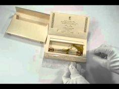S782, Brown Color, Shimmery Finish Paper, Scroll Invitations, Jewish Invitations, Wedding Scrolls