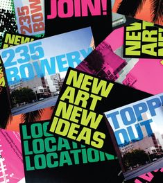 There's perhaps no better way to tell the history of the New Museum than through its graphic design. Whether by allowing artists to hijack posters for their own Museum Identity, Museum Branding, Brand Identity, New Museum, Design Museum, Corporate Design, Business Branding, Art Logo, New Art