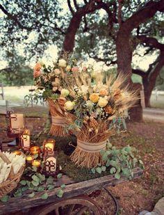 """Décorer une cérémonie de mariage  laïque avec le thème """"champêtre"""""""