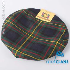 Clan MacLaren Tartan Cap. Free worldwide shipping available